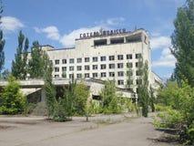 Övergett hotell, Tjernobyl Royaltyfria Bilder