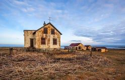 Övergett hus i Island Arkivbilder