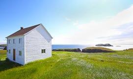 Övergett hus i Newfoundland, Kanada Arkivbilder