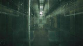 Övergett järnväg fasadrev med levande döden Apokalyptisk plats för fasa och för stolpe Loopable arkivfilmer