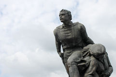 Övergett kommunistiskt monumentslut upp i Bulgarien, östliga Europ Arkivbilder