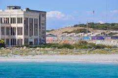 Övergett makthus brutna Shell i Fremantle, västra Australien Royaltyfri Bild
