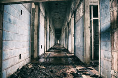 Övergett mentalt sjukhus i Brasilien Royaltyfria Bilder
