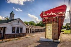 Övergett motell på historisk rutt 66 i Missouri Royaltyfri Fotografi