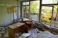 Övergett rum på den Chornobyl zonen Royaltyfri Bild