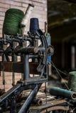 Övergett snöra åt fabriken - Scranton, Pennsylvania royaltyfri bild