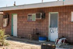 Övergett ställe i det Salton havet royaltyfri foto