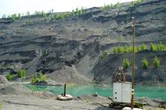 Övergett villebråd för coalmining i den Kemerovo regionen Royaltyfri Foto