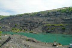 Övergett villebråd för coalmining i den Kemerovo regionen Royaltyfria Bilder