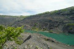 Övergett villebråd för coalmining i den Kemerovo regionen Arkivbilder