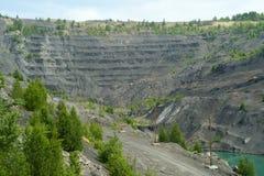 Övergett villebråd för coalmining i den Kemerovo regionen Royaltyfria Foton