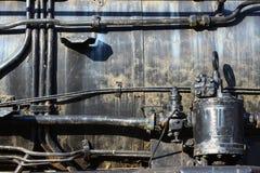 Övergiven ångalokomotiv royaltyfri fotografi