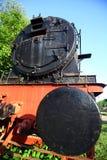 Övergiven ångalokomotiv royaltyfria bilder