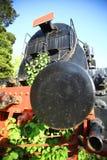Övergiven ångalokomotiv royaltyfri bild