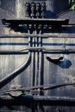 Övergiven ångalokomotiv arkivbild