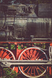 Övergiven ångalokomotiv arkivbilder