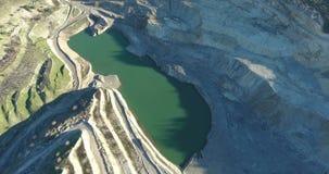 Övergiven öppen coalmining Pit Aerial arkivfilmer