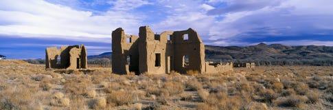 Övergiven arméstolpe, Circa 1860, fortChurchill delstatspark, Nevada Royaltyfria Foton