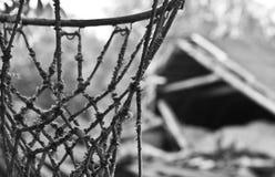 Övergiven basketcort Royaltyfri Bild