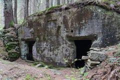 Övergiven befästninglinje Arpad efter världskrig II Royaltyfria Bilder