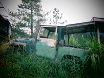 övergiven bil Royaltyfri Foto