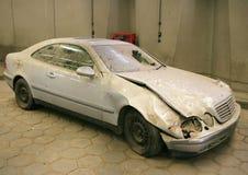 övergiven bil arkivbilder