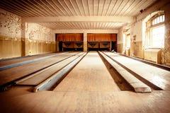 Övergiven bowlingbana Arkivfoton