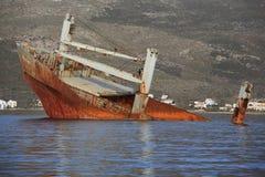 Övergiven bruten skepphaveri Fotografering för Bildbyråer