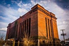 Övergiven byggnad i York, Pennsylvania Arkivfoto