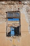 Övergiven byggnad på Halki Royaltyfria Foton