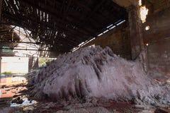 övergiven chemical fabrik arkivfoton