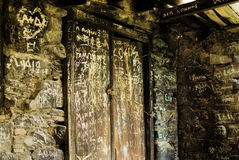 övergiven dörr Royaltyfri Bild