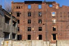 Övergiven fabrik Arkivbilder
