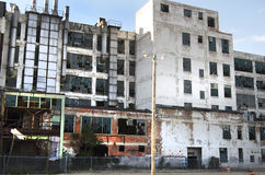 Övergiven fabrik i Detroit Arkivbild
