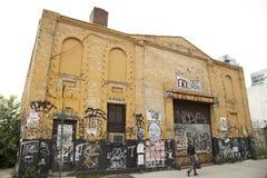 Övergiven fabrik i Williamsburg Brooklyn, New York Royaltyfri Bild