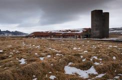 Övergiven fabrik Island Royaltyfria Foton