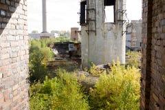 Övergiven fabrik Polen Arkivbild