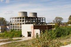 Övergiven fabrik Polen Arkivbilder