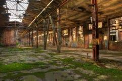 Övergiven fabriksbyggnad, flera tillgängliga bilder Arkivbild