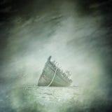 Övergiven fartyghaveri Arkivbild