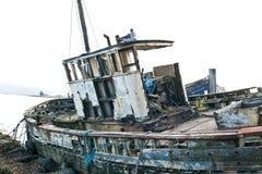 Övergiven fisketrålare Fotografering för Bildbyråer