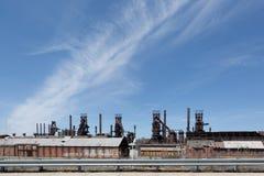 Övergiven gammal Bethlehem Steel för stålväxt växt i Betlehem, Pennsylvania Arkivfoto