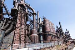 Övergiven gammal Bethlehem Steel för stålväxt växt i Betlehem, Pennsylvania Royaltyfria Bilder