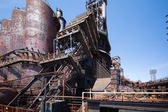 Övergiven gammal Bethlehem Steel för stålväxt växt i Betlehem, Pennsylvania Fotografering för Bildbyråer