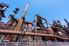 Övergiven gammal Bethlehem Steel för stålväxt växt i Betlehem, Pennsylvania Royaltyfria Foton