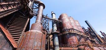 Övergiven gammal Bethlehem Steel för stålväxt växt i Betlehem, Pennsylvania Royaltyfri Foto