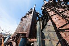 Övergiven gammal Bethlehem Steel för stålväxt växt i Betlehem, Pennsylvania Royaltyfri Bild