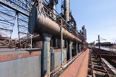 Övergiven gammal Bethlehem Steel för stålväxt växt i Betlehem, Pennsylvania Arkivbilder