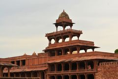 Övergiven gammal stad Fatehpur Sikri nära Agra, Indien Royaltyfri Fotografi
