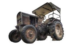 Övergiven gammal traktor royaltyfria bilder